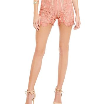 WAYF Dew Drop Lace Shorts | Dillards