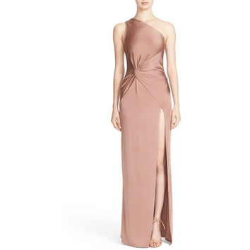One-Shoulder Twist Gown