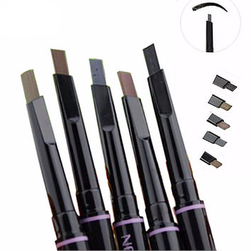 1Pcs New automatic eyebrow pencil makeup 5 style paint for eyebrows brushes cosmetics brow eye liner tools brow pencil