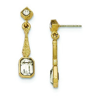 Gold-tone Downton Abbey Crystal Dangle Post Earrings in Fashion Design