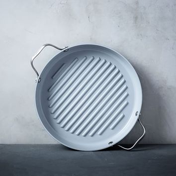 """Greenpan® Nonstick 11"""" Grill Pan with Handles - Gray"""