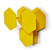 Sirio Yellow Wall Hooks