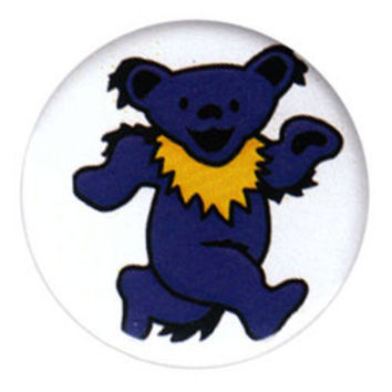 Grateful Dead - Blue Dancing Bear Button