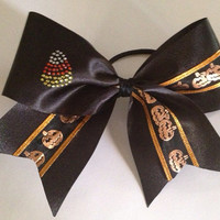 Halloween Cheer Bow by TheFiercestFandom on Etsy