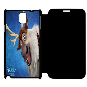 Frozen Sven And Olaf Samsung Galaxy Note 4 Flip Case Cover