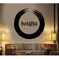 Vinyl Wall Decal Enso Buddhism Breath Yoga Meditation Beauty Health Stickers Unique Gift (1295ig)