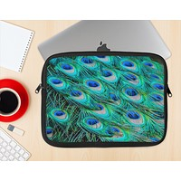 The Neon Multiple Peacock Ink-Fuzed NeoPrene MacBook Laptop Sleeve