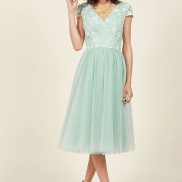 Chi Chi London A Divine Dream Midi Dress in Mint