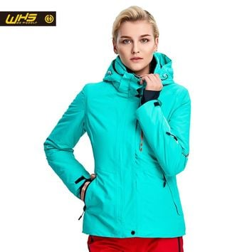 WHS New Women ski Jackets winter Outdoor Warm Snow Jacket coat female waterproof snow jacket ladies breathable sport clothes