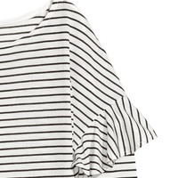 Long-sleeved Flounced Top - from H&M