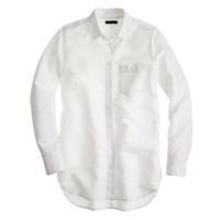 J.Crew Womens Long Cotton-Linen Boy Shirt