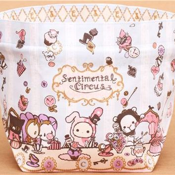 Sentimental Circus afternoon tea bento pouch lunch bag San-X - Lunch Bags - Bags - Accessories