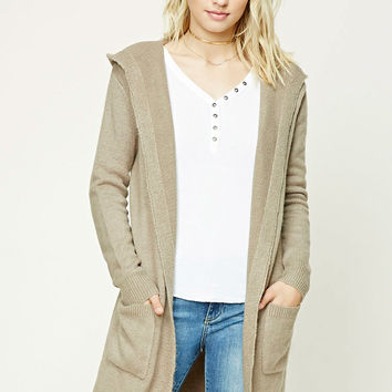 Contemporary Hooded Cardigan