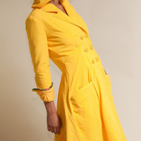 Seaside Raincoat Available in Yellow Black by LizzBasingerDesigns