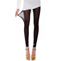Skinny See-Through Solid Color Mesh Leggings For Women