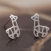 Cute Llama Alpaca Stud Earrings - 925 Sterling Silver