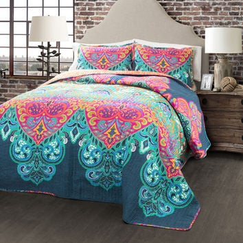 Lush Decor Boho Chic 3-piece Quilt Set | Overstock.com Shopping - The Best Deals on Teen Quilts