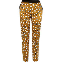 River Island Womens Brown animal print cigarette pants