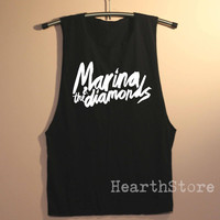 Marina & The Diamonds Shirt Muscle Tee Muscle Tank Top TShirt Unisex - size S M L