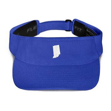 Indiana Embroidered State Shape Visor