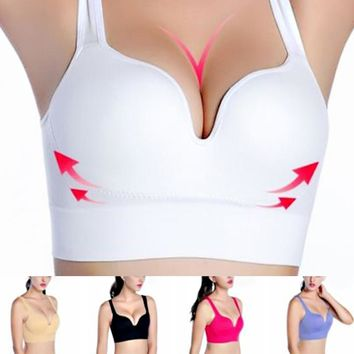High Quality 1pc Vest 3D Multicolor Racerback No Rims Gather Together Seamless 3/4 Cups  Women Bras