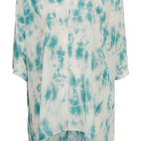 Silk Tie Dye Kaftan Top By Boutique - Tops - Clothing - Topshop USA