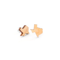Texas Outline Stud Earrings