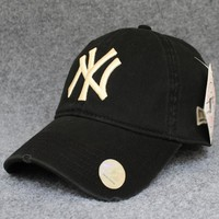Embroidered Ny Cotton Baseball Hat