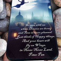 Peter Pan Quote for iPhone 4/4s/5/5S/5C/6, Samsung S3/S4/S5 Unique Case *76*