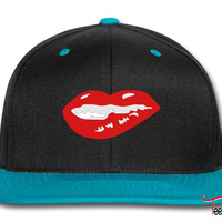 Sexy Mouth Bite Lip Snapback