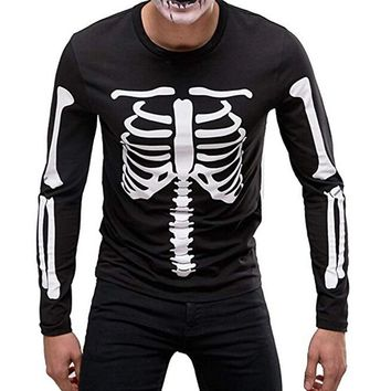 Men Skull long sleeve t shirt