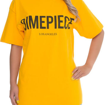 The Dimepiece Logo Tee in Gold