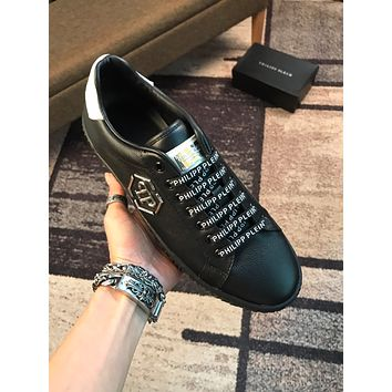 Philipp Plein Black Men Fashion Casual Sneakers Sport Shoes