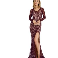 Courtney-burgundy Prom Dress