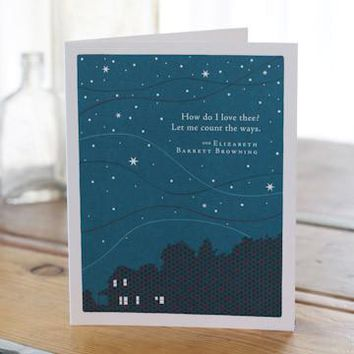 How Do I Love Thee, A Positively Green Love and Anniversary Card