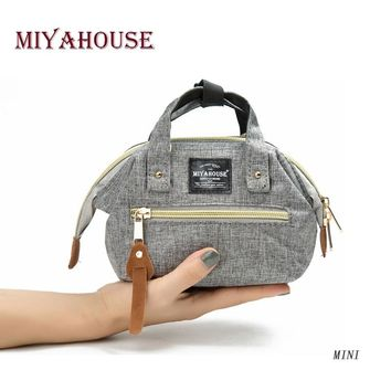 Miyahouse Famous Brand Mini Women Handbag Canvas Small Ladies Shoulder Bag Fashion Shell Design Female Clutch Bag