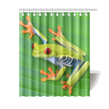 Frog Polyester Shower Curtain 60x72 inch