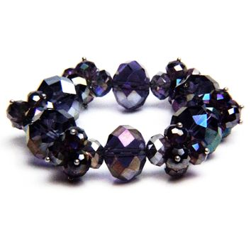 Crystal Beaded Stretch Bracelet