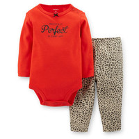 2-Piece Bodysuit & Animal Print Pant Set