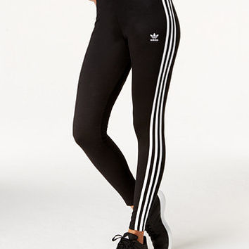 adidas Originals Logo-Striped Leggings | macys.com