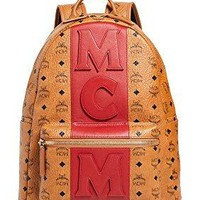 MCM Men's Stark Medium Stripe Backpack