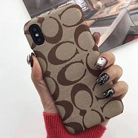 Coach Fashion iPhone Phone Cover Case For iphone 6 6s 6plus 6s-plus 7 7plus 8 8plus iPhone X XR XS XS MAX