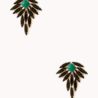 Ornate Faux Gem Earrings