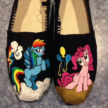 My Little Pony Hand Painted Shoes Pinky Pie Rainbow Dash