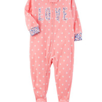 1-Piece Love Fleece PJs