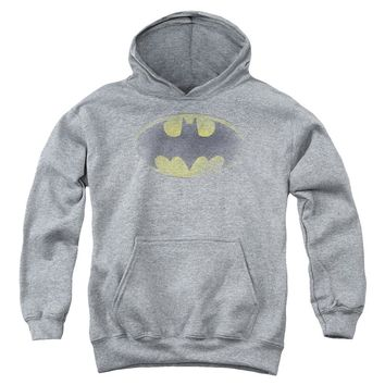 Batman - Faded Logo Youth Pull Over Hoodie