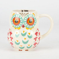 Be Happy Owl Mug Blue Combo One Size For Women 24905924901