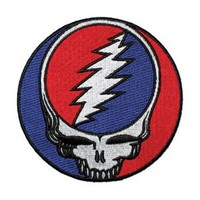 Grateful Dead Steal Your Face 3 1/2 Inch Music Embroidered Iron On Patch 1264