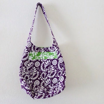 Yoga tote bag, bucket tote bag, purple tote bag, market bag, reusable grocery bag, large purse, women's gift idea, women's accessory, summer