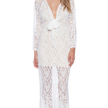 Toby Heart Ginger x Love Indie Mermaid Lace Dress in White